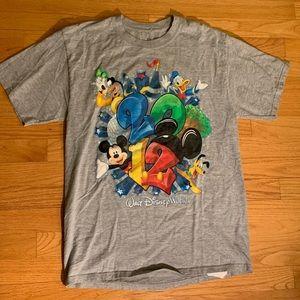 Disney World 2012 tee shirt gray size m multi